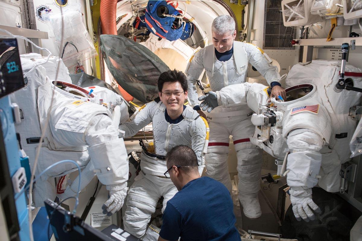 Deux astronautes de l'ISS ont effectué une sortie dans l'espace, la troisième de l'année - Photo Nasa