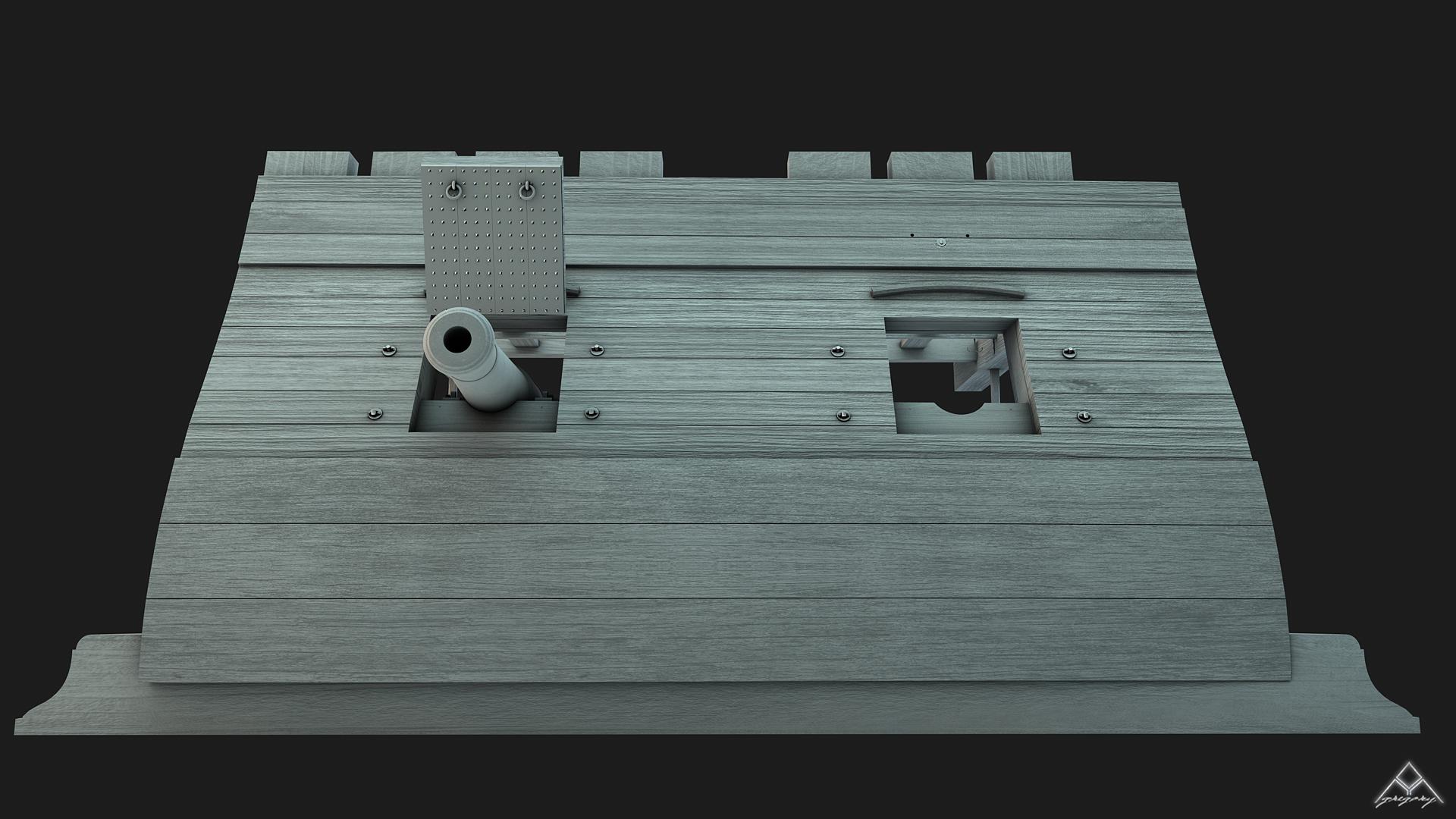Etapes de construction 3D d'un navire de 74 canons. - Page 14 18031507305423665615614821