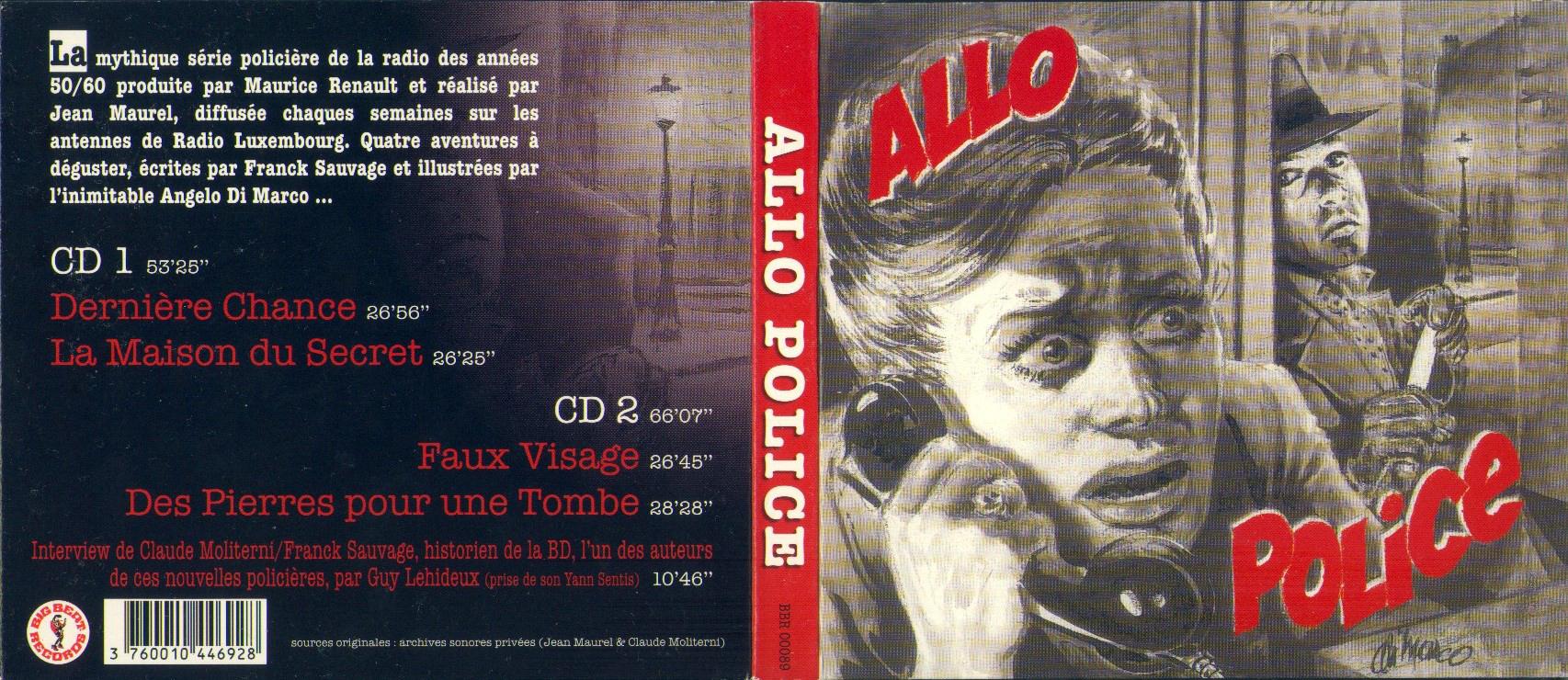 (pièce radio) ALLO... POLICE ! - 4 épisodes (1956 à 1960) [MP3 160kbps]