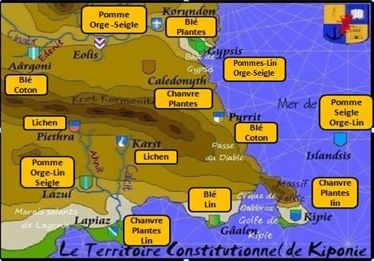 Carte plantations