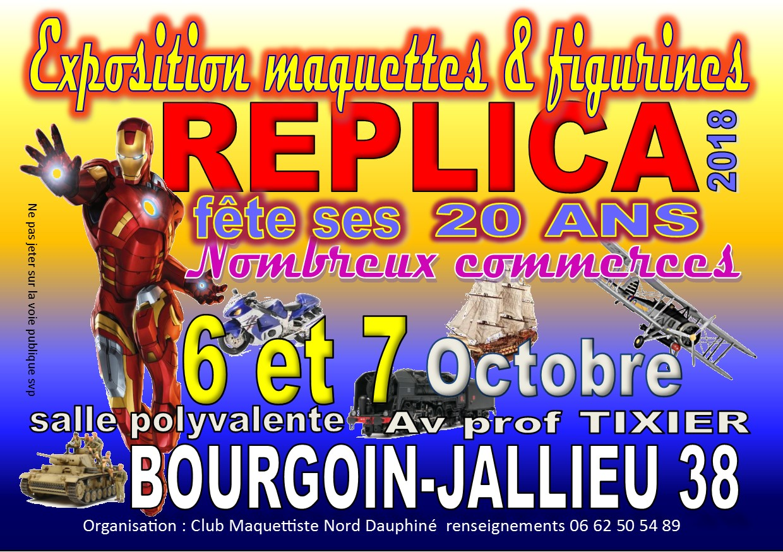 Expo maquette à BOURGOIN-JALLIEU (ISERE 38) (REPLICA ) 18032410205722494215629303