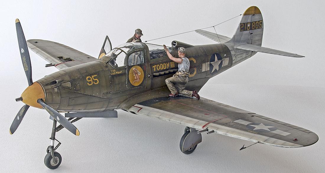 Figurines de pilotes et de mécaniciens ww2 + maquettes d'avions 18040401095414703415650410