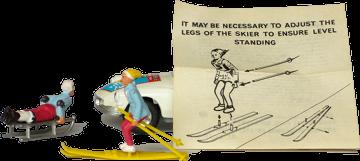 Y'a comme un problème avec les fixations… Ah ! Où était le skieur. Caché dans la voiture.