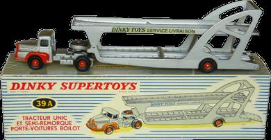 Unic Lautaret et porte-voitures Boilot Petolat Dinky-Toys