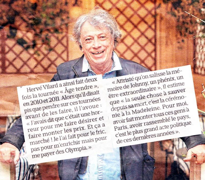 """Hervé Vilard : """"La Madeleine, le + grand acte politique de ces dernières années"""" 18050905134123491615705579"""