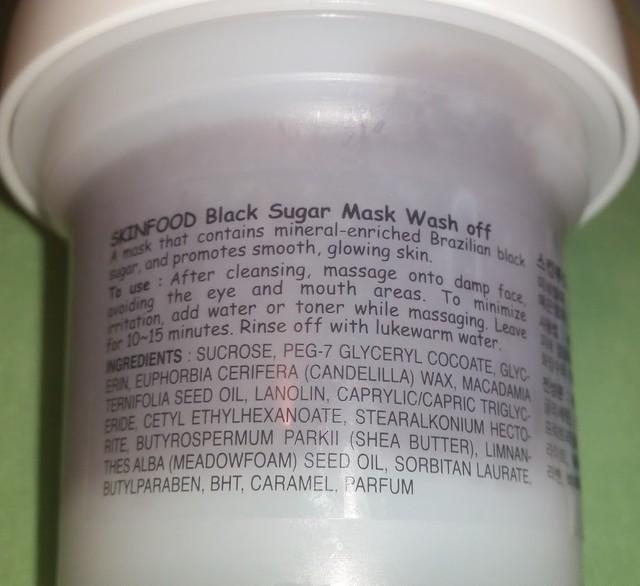 ingrédients gommage skinfood