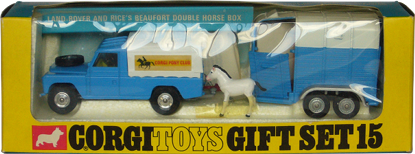 Land Rover and Rice's Beaufort double horse box Corgi-Toys