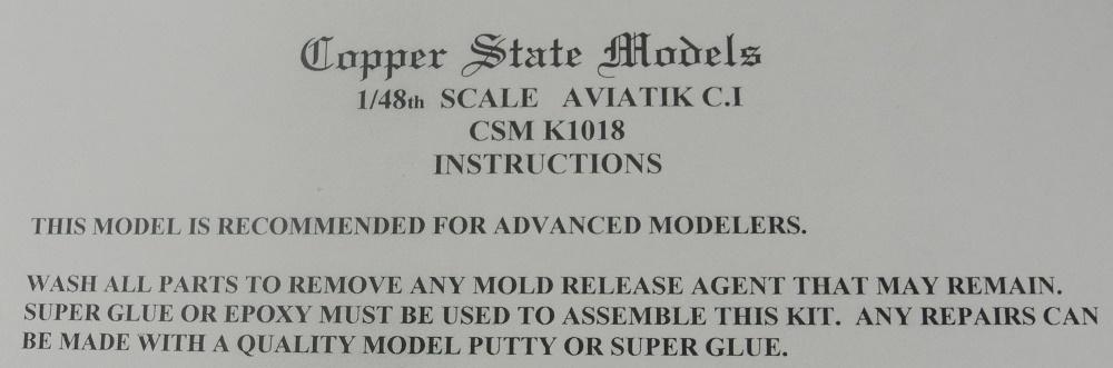 Aviatik B.II copper state models 1/48 18051012540723469215706256