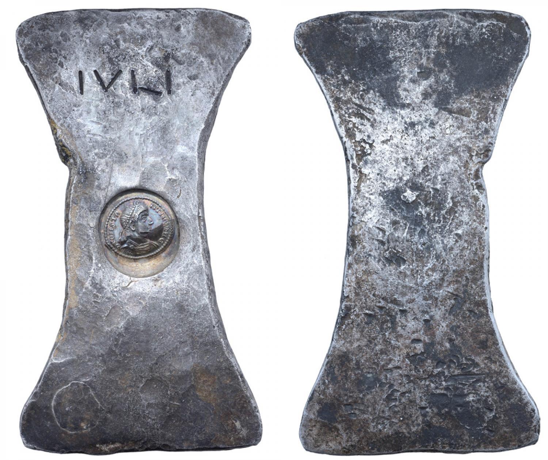 lingots d'argent d'une livre Constantius II 343g45