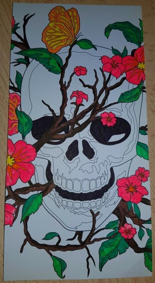 arttherapy coloriage tete de mort