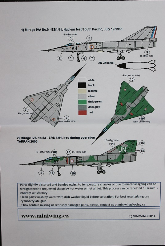 Mirage IV A Miniwings 1/144 1806190501105669815768764