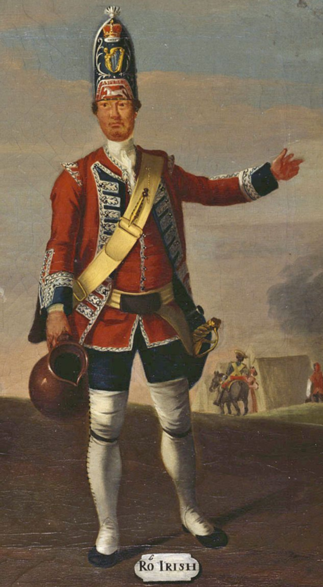 grenadier anglais du 18th Foot en 1751 18070102572310262915787641