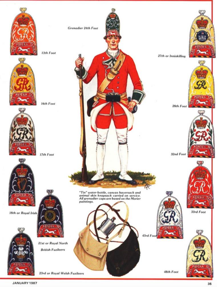 grenadier anglais du 18th Foot en 1751 18070103072410262915787671