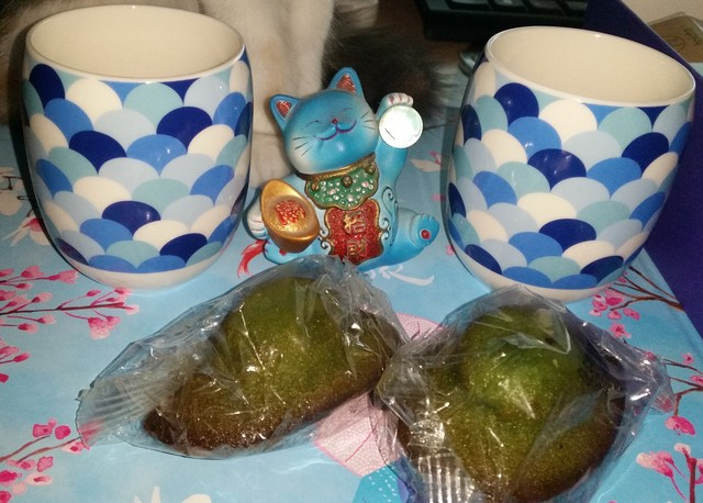 tasses à thé japonais box collector mizu madeleines matcha