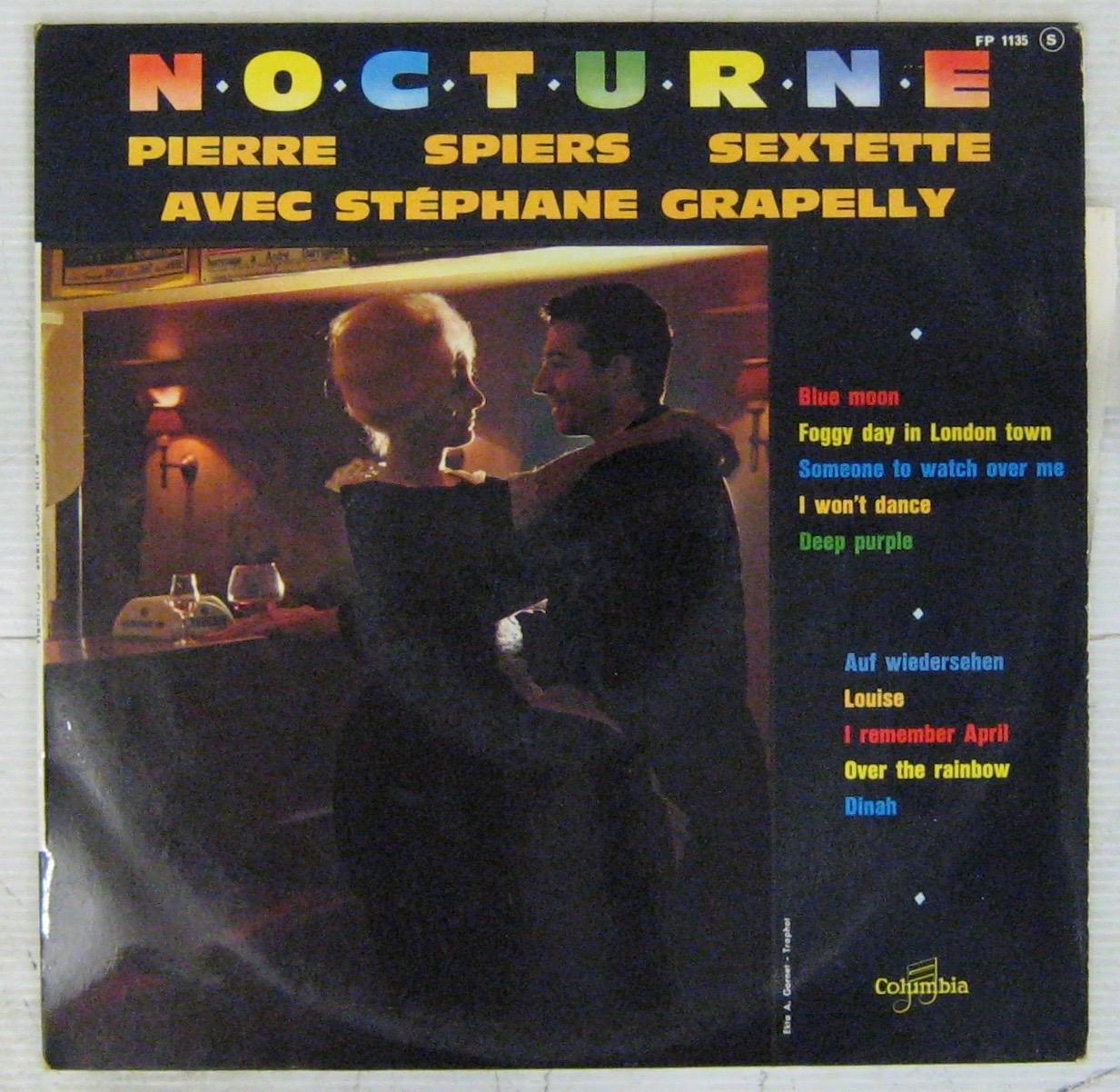 PIERRE SPIERS SEXTETTE AVEC STÉPHANE GRAPELLI - Nocturne - 10 inch