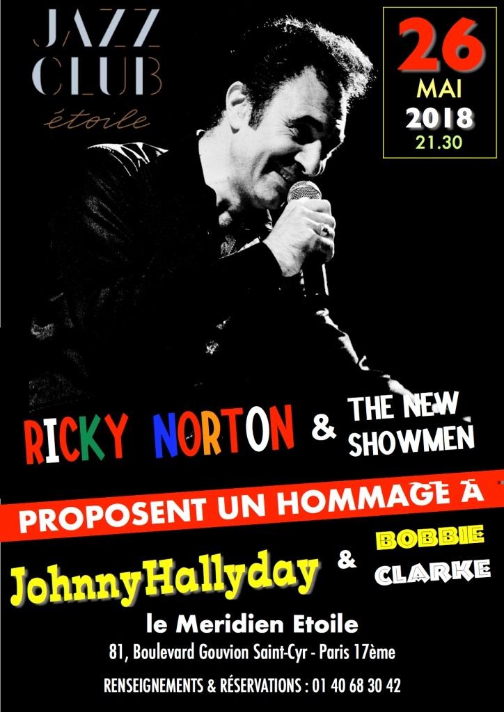 """RICKY NORTON & THE NEW SHOWMEN + JOEY GRECO : """"Tribute to BOBBIE CLARKE, JOHNNY HALLYDAY (""""Les rocks les plus terribles""""), VINCE TAYLOR & SES PLAY-BOYS) 26 mai et 13 juin 2018 à Paris : compte rendu 18072909171323491615826616"""