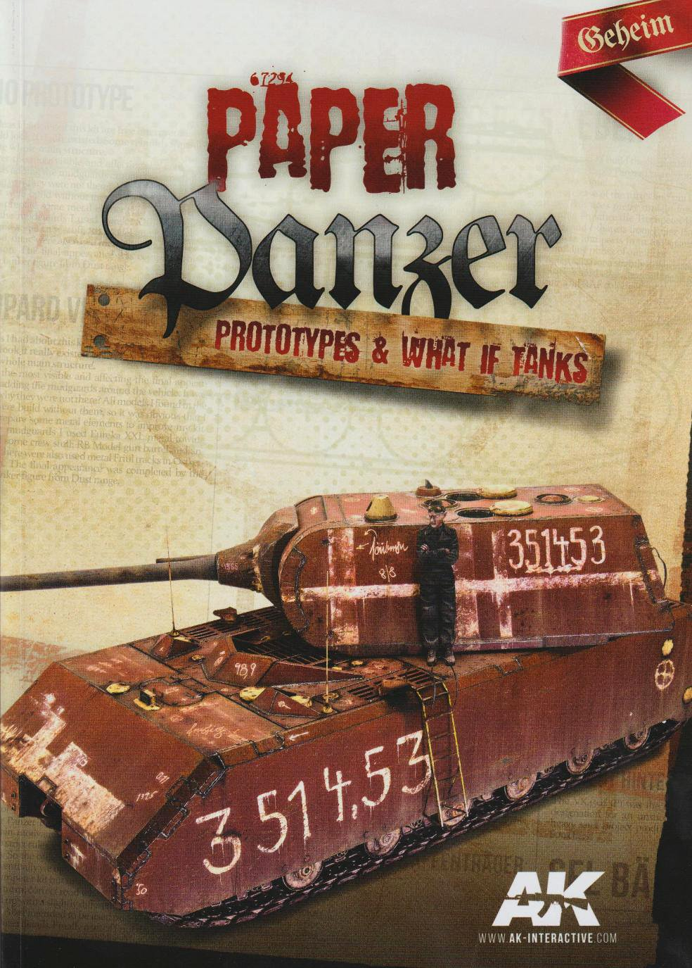 PAPER PANZER. Prototypes & What If Tanks. AK Interactives. 1808021228169210115831520