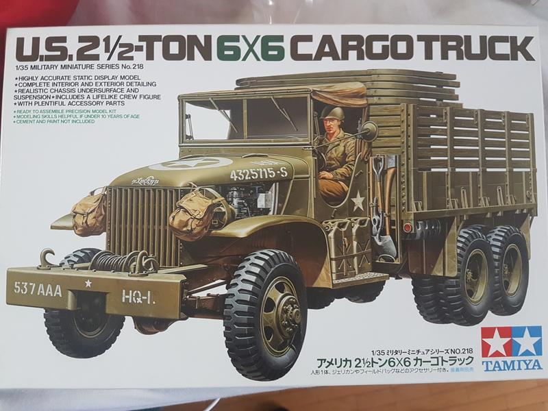 US 2 1/2 Ton 6x6 Cargo Truck 1/35 Tamiya 18090309021224268715876241