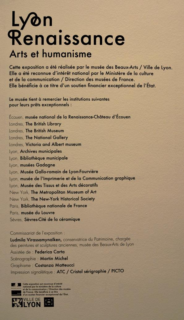 Expo Lyon Renaissance - références