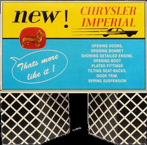 Présentoir pour Chrysler Imperial Corgi-Toys