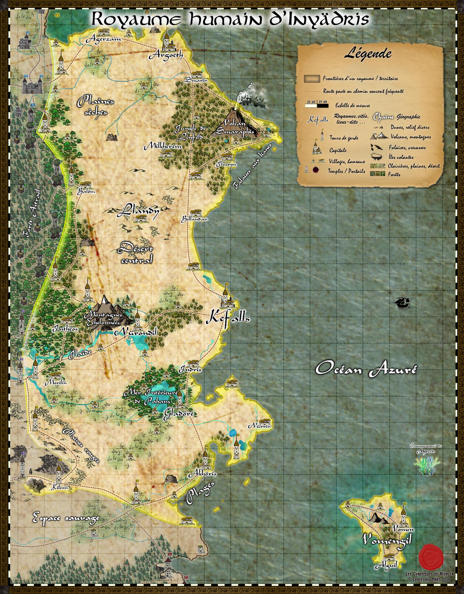 Carte du royaume d'Inyädris 18091301001323817215890054