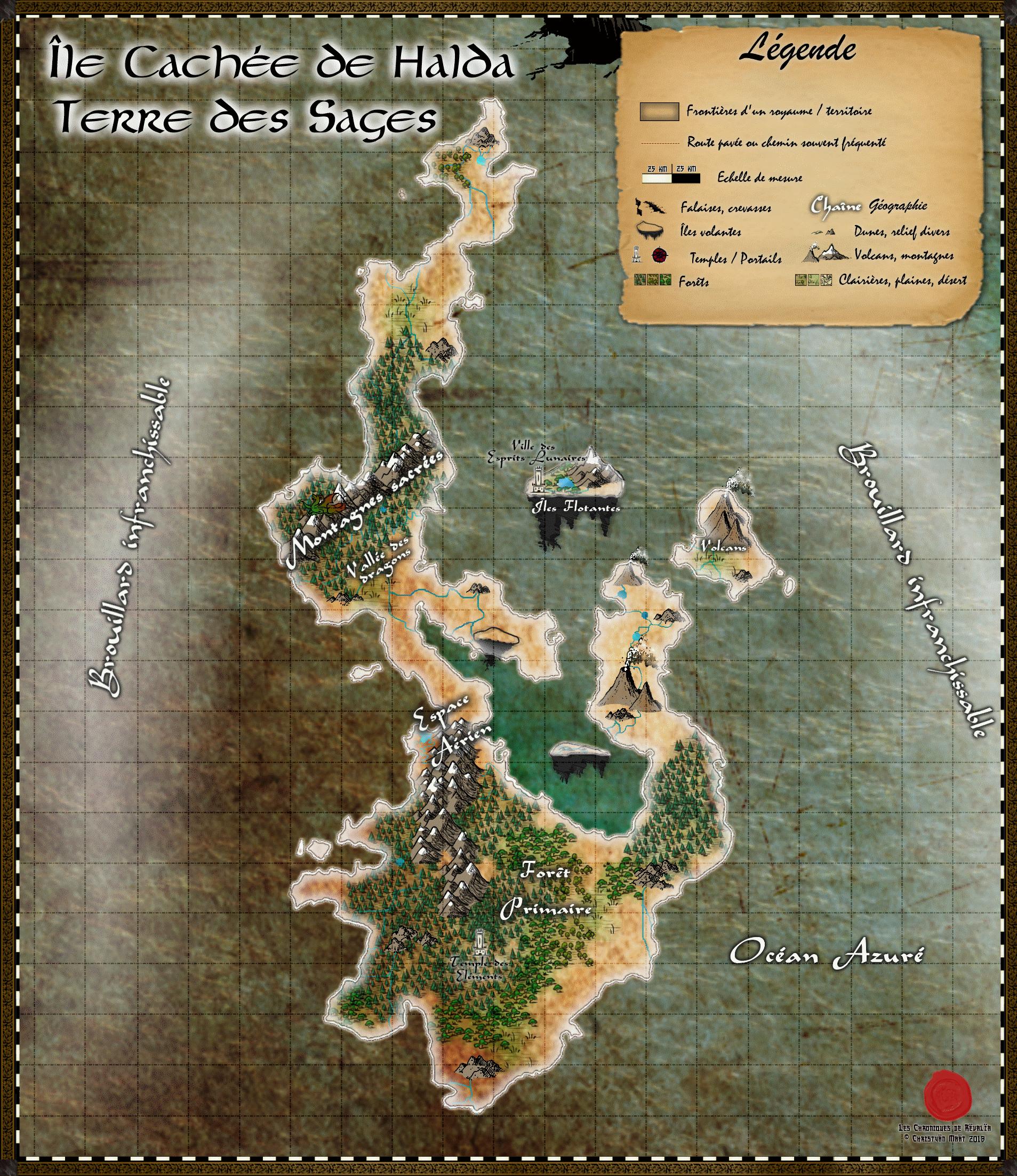 Carte de l'Île cachée de Halda 18091403113023817215892141