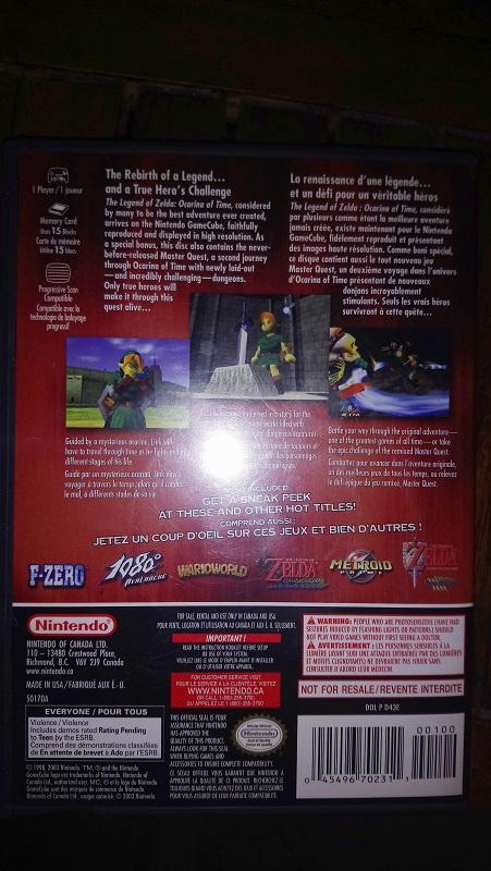 fake ? zelda OOT MQ gamecube 1809250947119132815909966