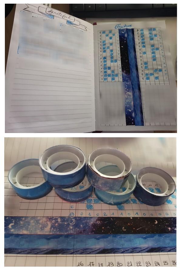 bullet journal et washi tape