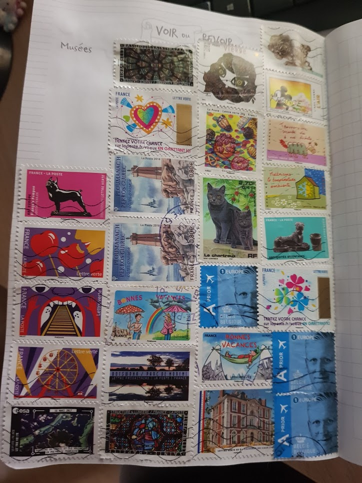 collage timbres