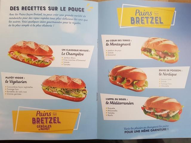 idées de sandwiches pain bretzel pasquier