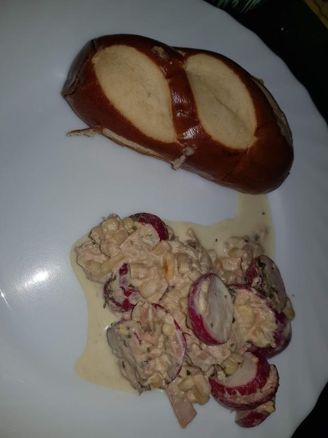 pain bretzel pasquier et radis thon mais