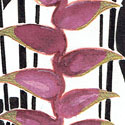 Challenge inktober Fleurs tropicales Encre de chine, encre havane, stylo or