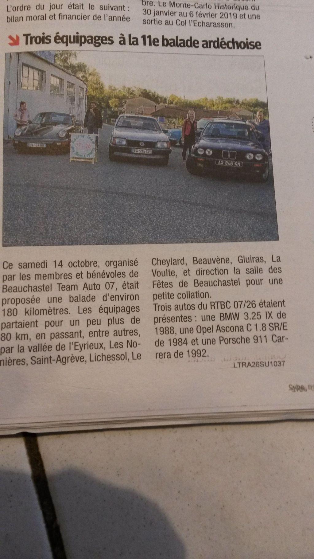 [07] 13/10/2018 - 11ème balade Ardèchoise - Beauchastel - Page 2 18101810040623632315949219