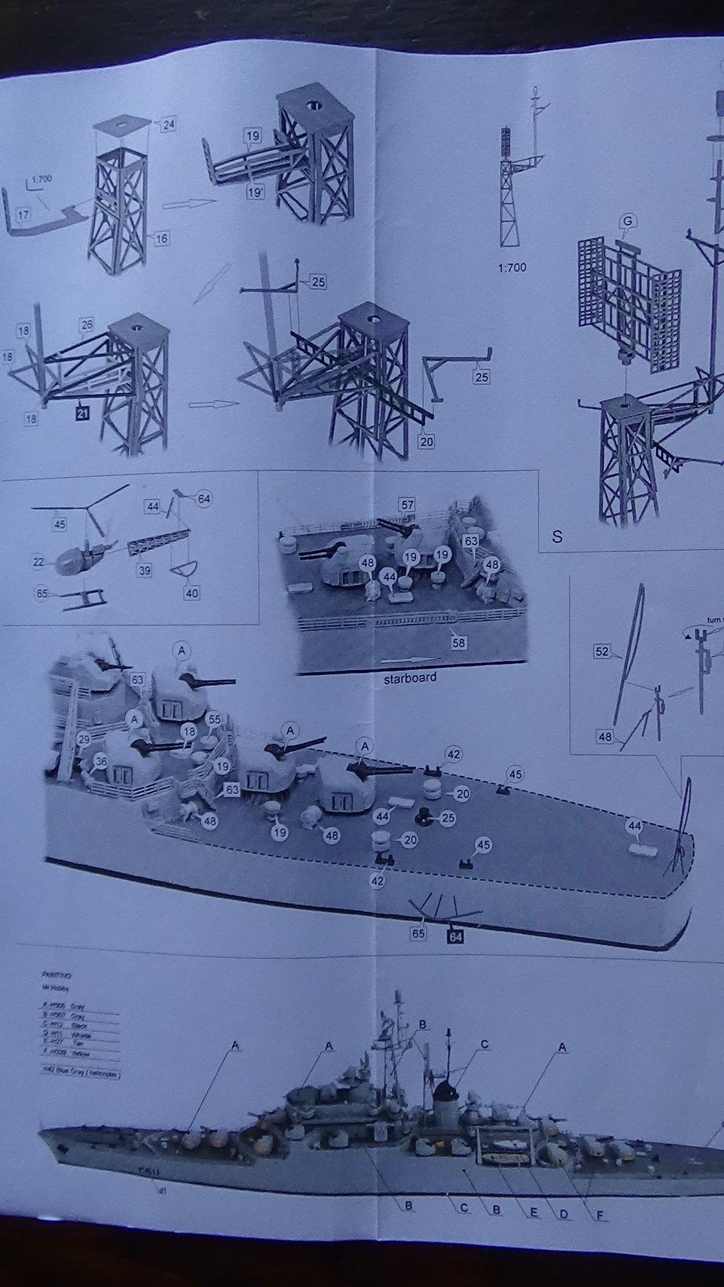 [Croiseur Colbert, 1964] 1/700e Niko Models-Ouverture de boite 18102412332923134915960135