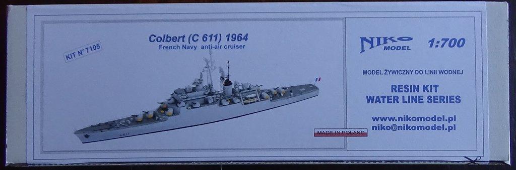 [Croiseur Colbert, 1964] 1/700e Niko Models-Ouverture de boite 18102412333323134915960136