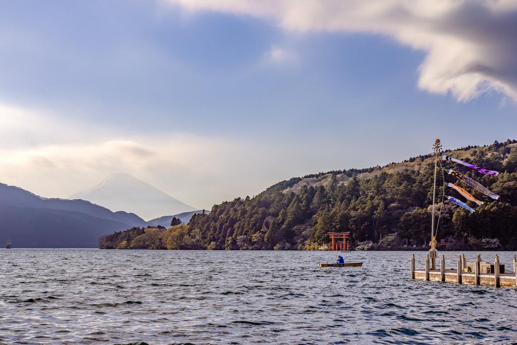 Le mont Fuji depuis le lac Ashi 18102702451322414915965969