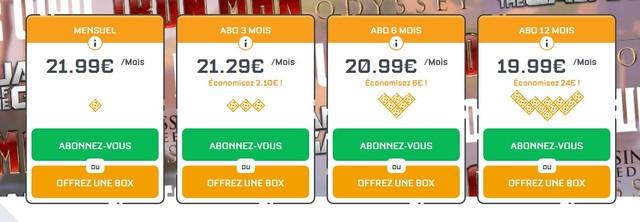 prix wootbox