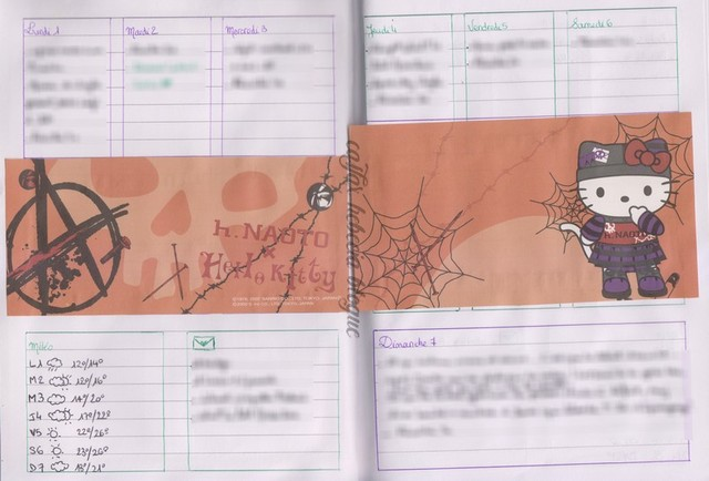 bullet journal halloween octobre