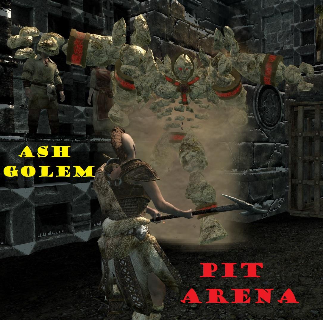 Pit Arena Ash Golem