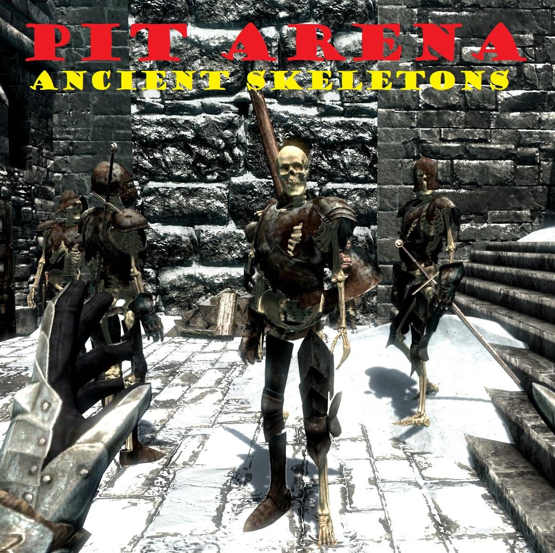 Pit arena ancient skeletons