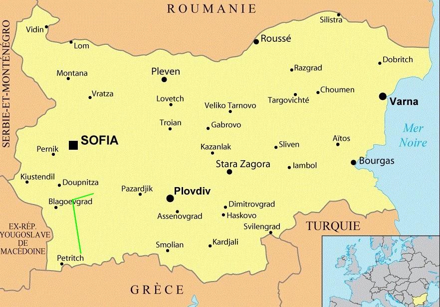 Bulgarie[ carte Melnik