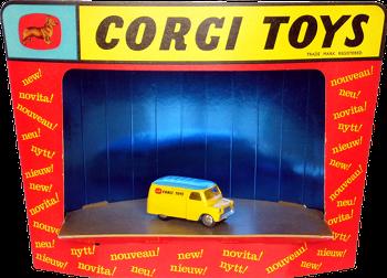 Corgi-Toys News display stand