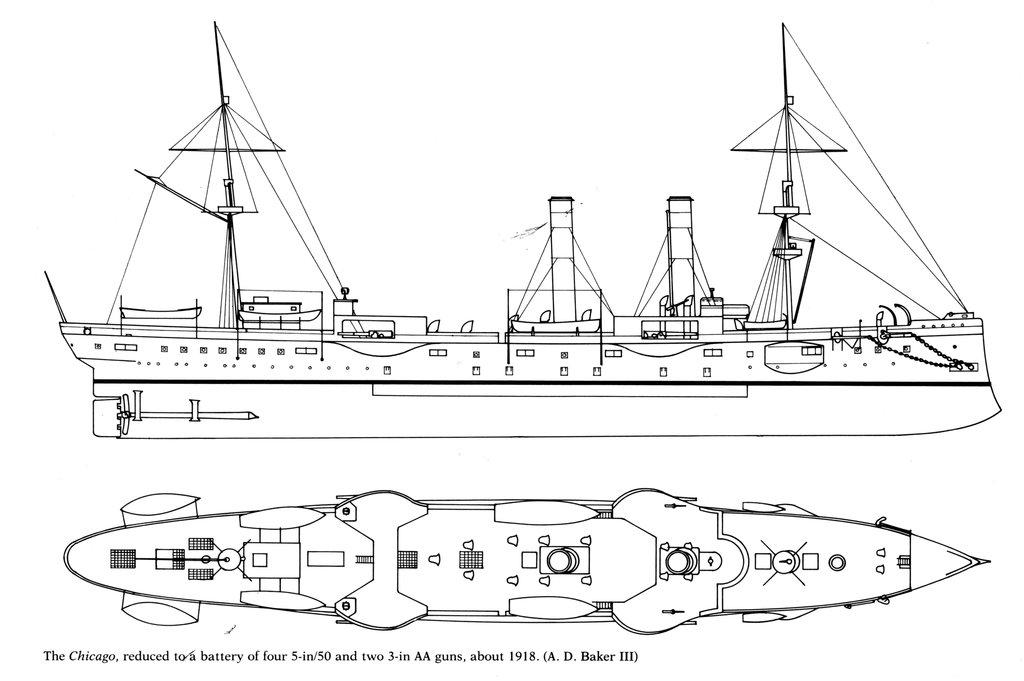 USS Chicago - croiseur protégé 1/700 COMBRIG - Page 4 18112611474323134916012849