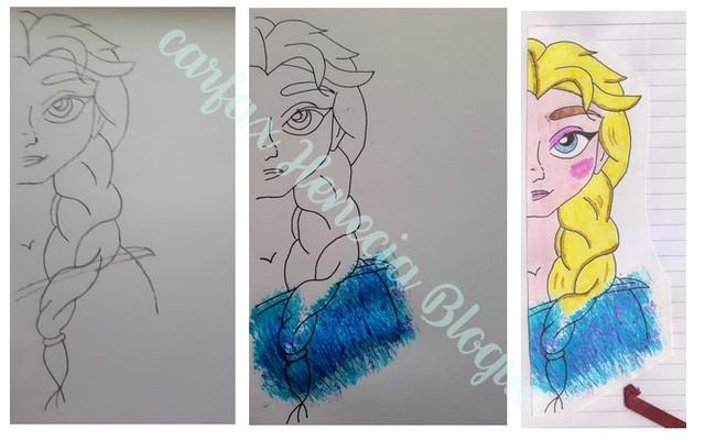 dessin elsa reine des neiges
