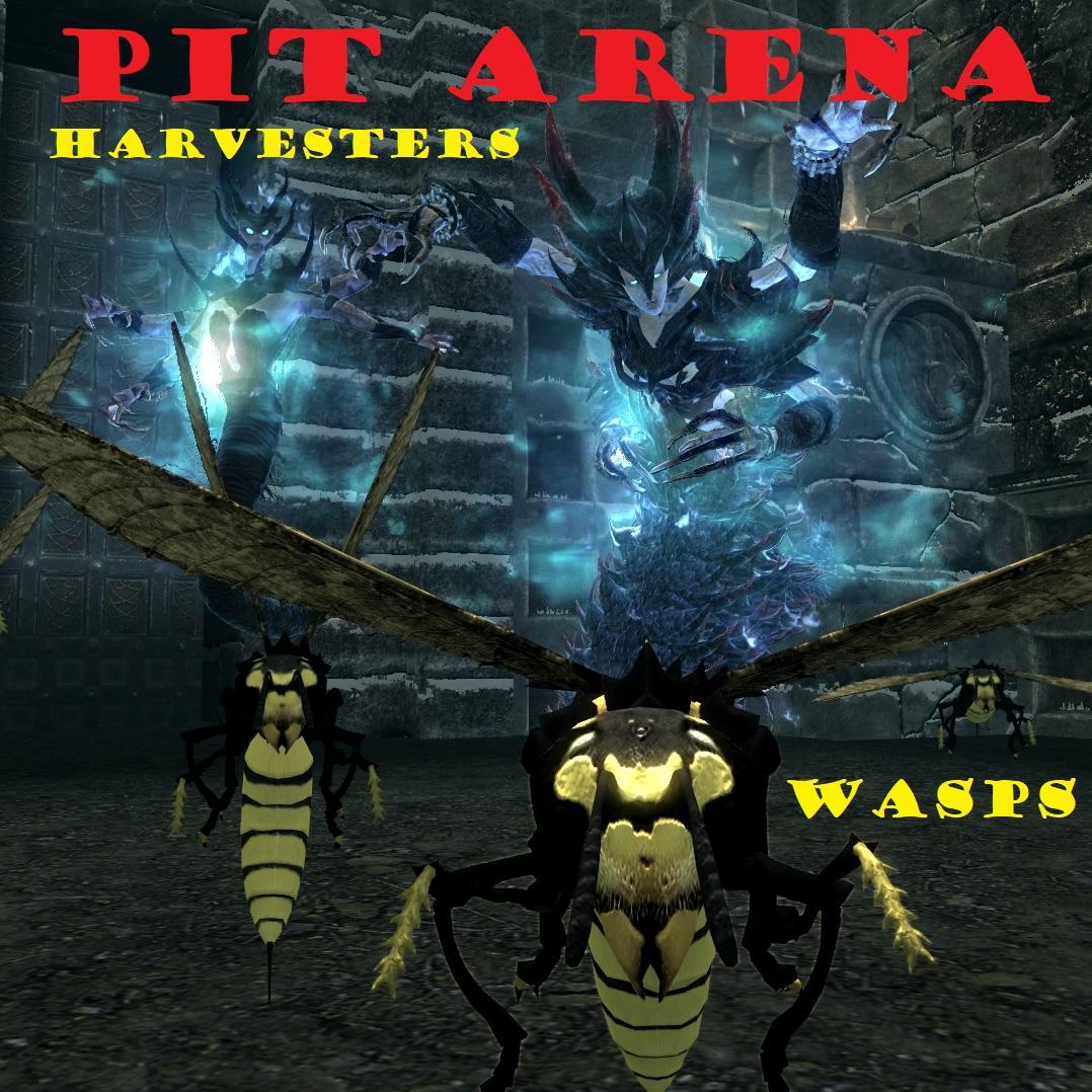 pit arena harvester