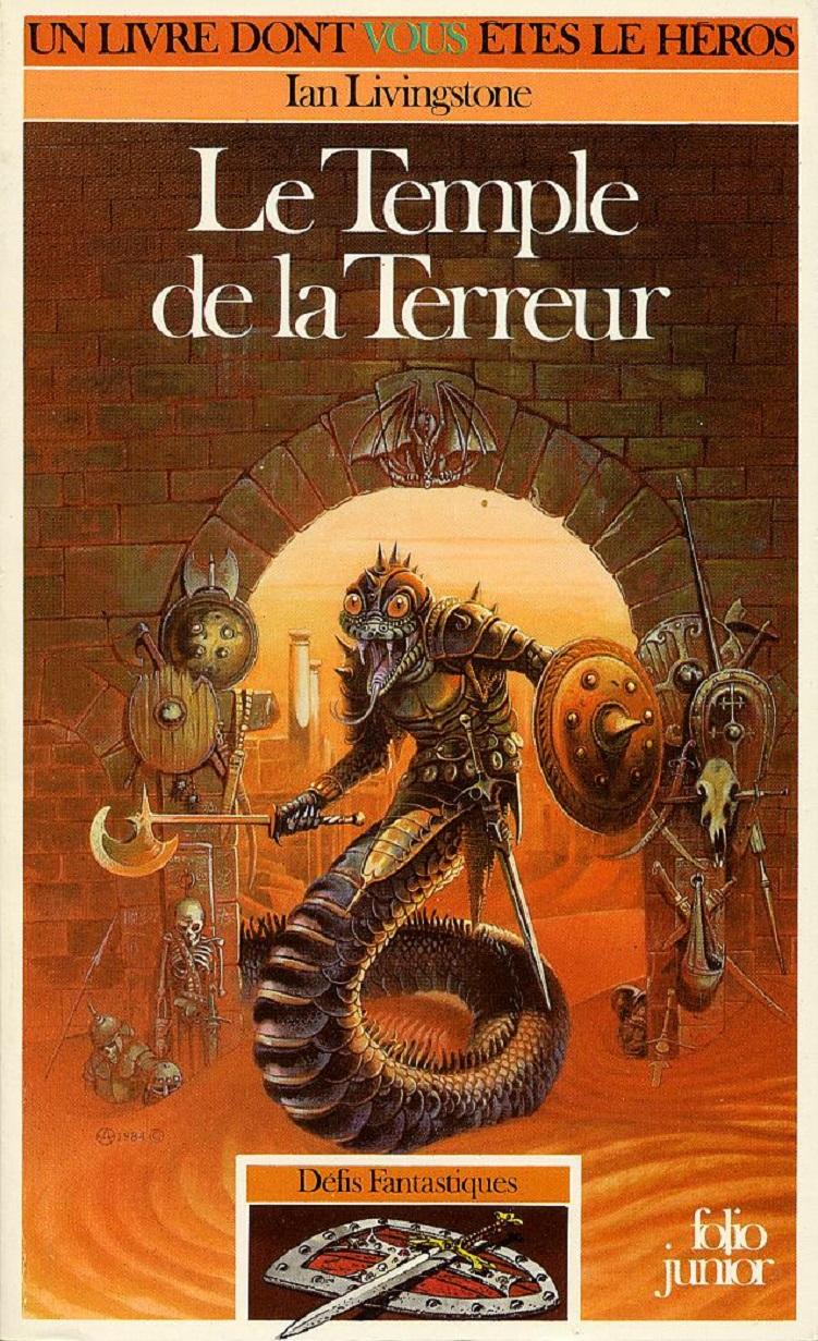 UN LIVRE DONT VOUS ÊTES LE HÉROS : LE TEMPLE DE LA TERREUR (1987) dans JEU 19010407403015263616060992