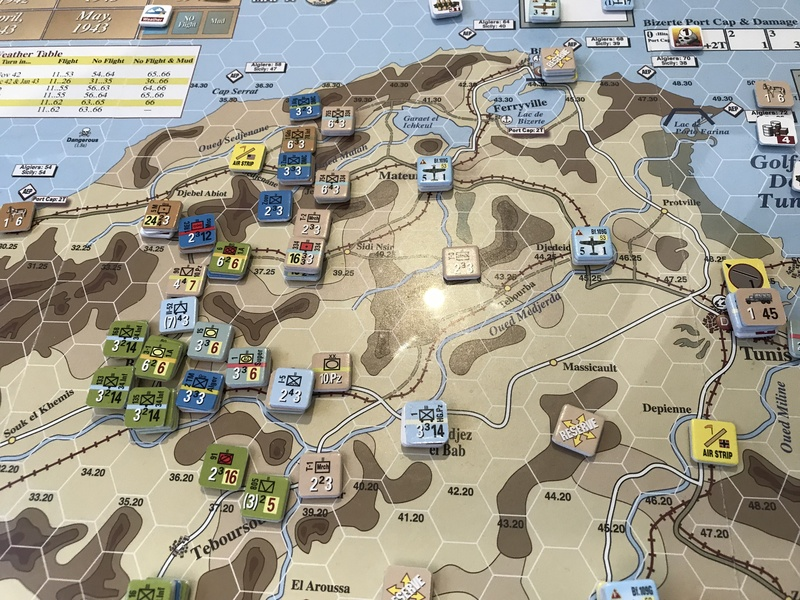 Tunisia T25 North German end of turn