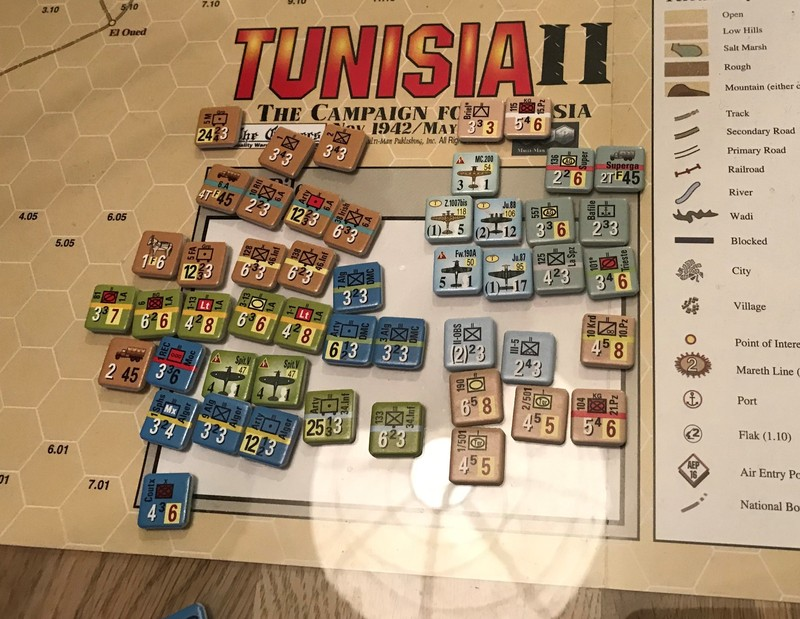 Tunisia T28 units in dead pool end of turn