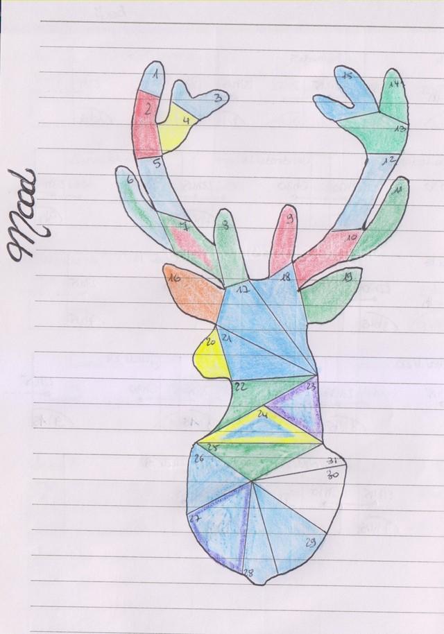 cerf doodle art