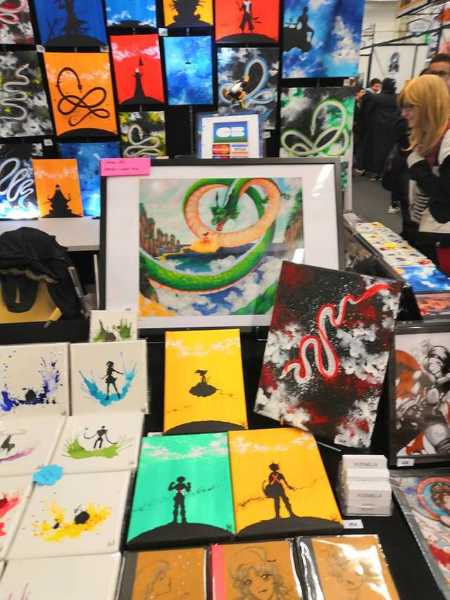 stand peinture dragon ball